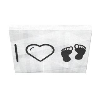I Love Footprint Walkings Gallery Wrap Canvas