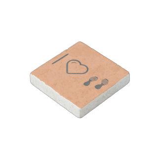 I Love Footprints Sexies Stone Magnet