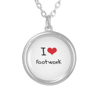 I Love Footwork Personalized Necklace