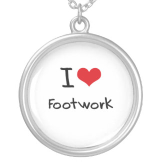 I Love Footwork Pendants