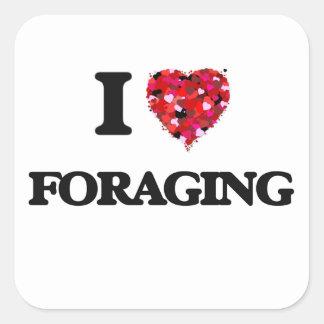 I Love Foraging Square Sticker
