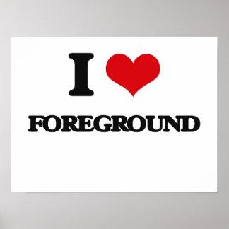 i LOVE fOREGROUND Print