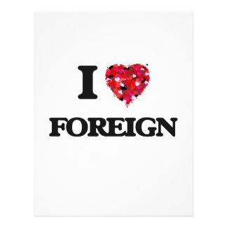 I Love Foreign 21.5 Cm X 28 Cm Flyer