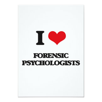 I love Forensic Psychologists Custom Announcements