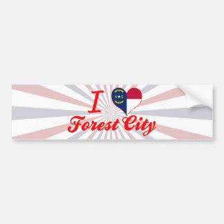 I Love Forest City, North Carolina Bumper Sticker