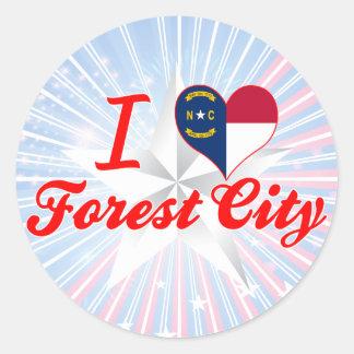 I Love Forest City, North Carolina Stickers