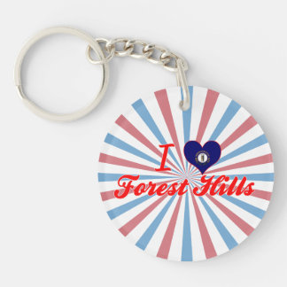 I Love Forest Hills, Kentucky Acrylic Key Chains