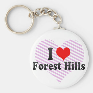 I Love Forest Hills, United States Keychain