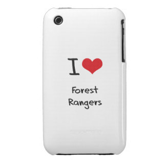 I Love Forest Rangers iPhone 3 Cases