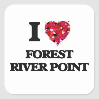 I love Forest River Point Massachusetts Square Sticker