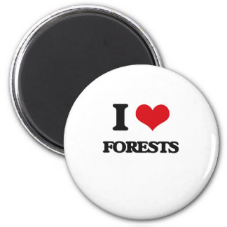 i LOVE fORESTS 6 Cm Round Magnet