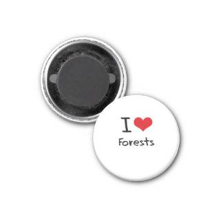 I Love Forests Refrigerator Magnet