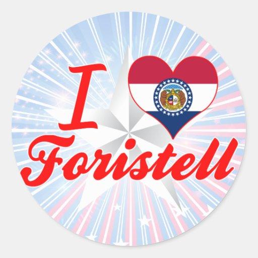 I Love Foristell, Missouri Round Sticker