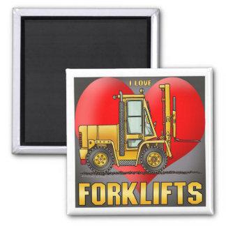 I Love Forklift Trucks Magnet