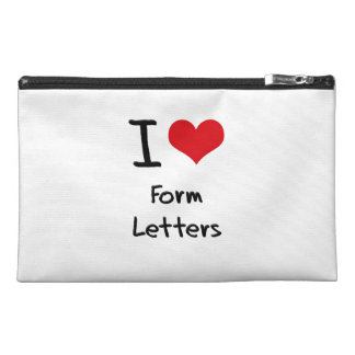 I Love Form Letters Travel Accessory Bags