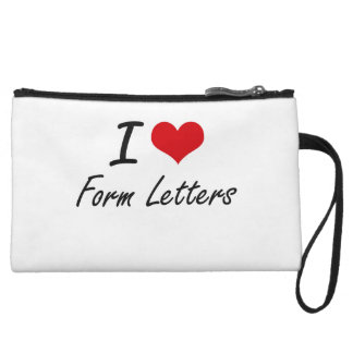 I love Form Letters Wristlet Clutch