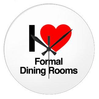 i love formal dining rooms wallclocks