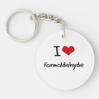 I Love Formaldehyde Key Ring