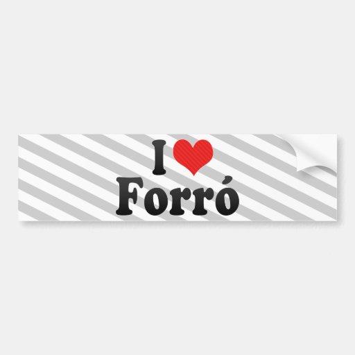 I Love Forró Bumper Sticker