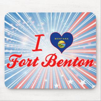 I Love Fort Benton, Montana Mousepads
