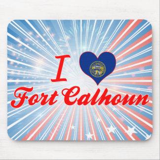 I Love Fort Calhoun, Nebraska Mousepads