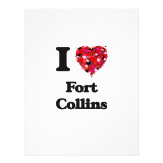 I love Fort Collins Colorado 21.5 Cm X 28 Cm Flyer