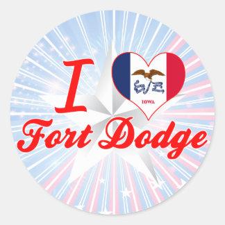 I Love Fort+Dodge, Iowa Stickers
