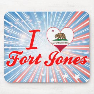 I Love Fort+Jones, California Mouse Pads