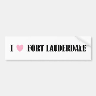I LOVE FORT LAUDERDALE BUMPER STICKER