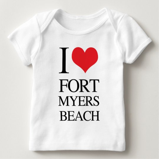 I Love Fort Myers Beach Baby T-Shirt