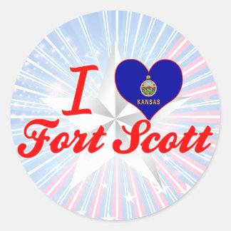 I Love Fort Scott, Kansas Sticker