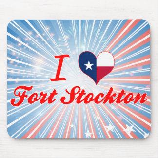 I Love Fort Stockton, Texas Mouse Pad