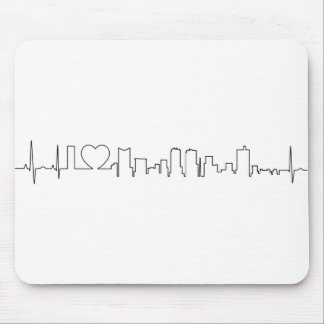 I love Fort Worth in an extraordinary ecg style Mouse Pad