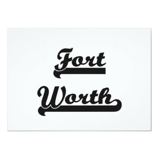 I love Fort Worth Texas Classic Design 13 Cm X 18 Cm Invitation Card