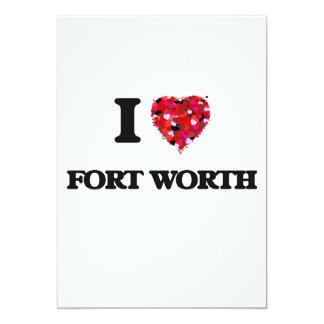 I love Fort Worth Texas 13 Cm X 18 Cm Invitation Card