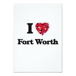 I love Fort Worth Texas 9 Cm X 13 Cm Invitation Card