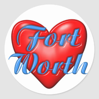 I Love Fort Worth Texas Sticker