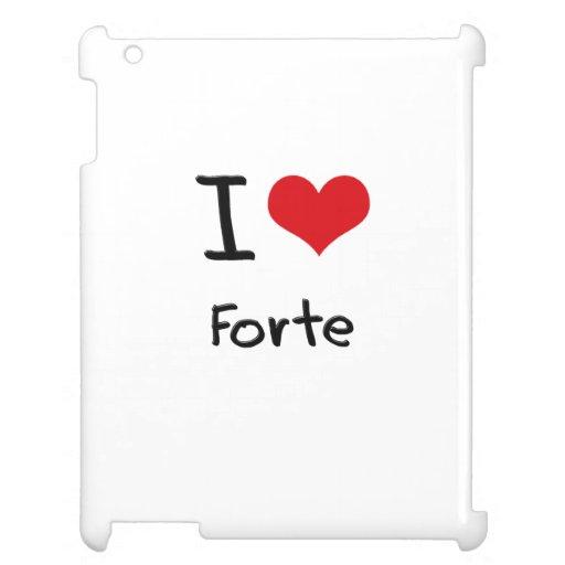 I Love Forte iPad Covers