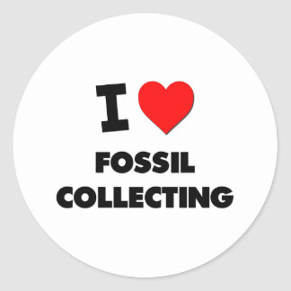 I Love Fossil Collecting Sticker