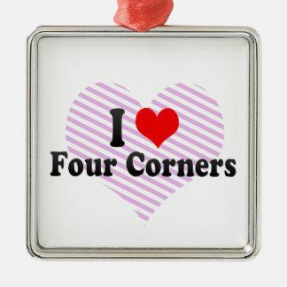 I Love Four Corners, United States Christmas Ornament