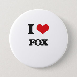 I Love Fox 7.5 Cm Round Badge