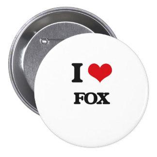 I Love Fox 7.5 Cm Round Badge