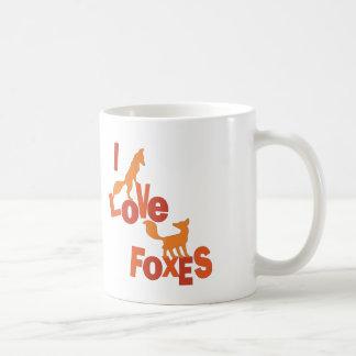 I Love Foxes Coffee Mug