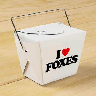 I LOVE FOXES FAVOUR BOX