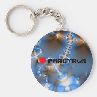 I Love Fractals Key Chains