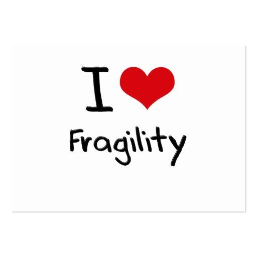 I Love Fragility Business Card Templates