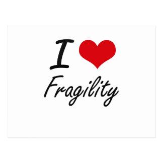 I love Fragility Postcard