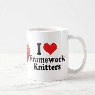 I Love Framework Knitters Mugs