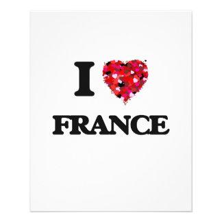 I Love France 11.5 Cm X 14 Cm Flyer