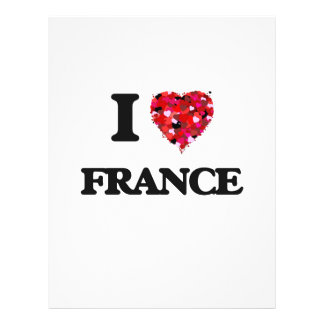 I Love France 21.5 Cm X 28 Cm Flyer